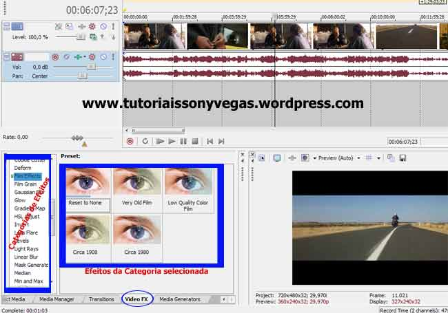 Efeito em vídeo